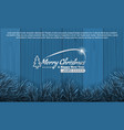 christmas with fir branch border frame on bottom vector image vector image