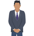 confident businessman in office outfit man vector image