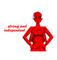 cool attractive sexy girl stands confident style vector image vector image
