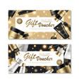 cosmetic gift voucher design vector image vector image