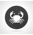 Crab black round icon vector image vector image