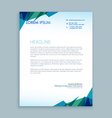 creative abstract letterhead design vector image vector image