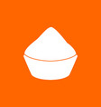 cupcake white icon vector image vector image