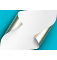 curled metalic platinum corners of white vector image vector image