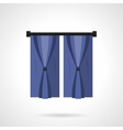 Curtains for bedroom flat color icon vector image vector image