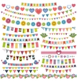 Cute bunting and garland set vector image vector image