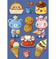 Cute Cakes and Ice Cream vector image