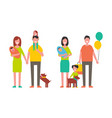 family parenthood childhood vector image vector image