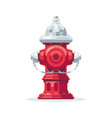fire hydrant flat style vector image vector image