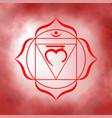 first root chakra - muladhara vector image vector image