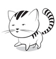 Funny little striped kitten vector image vector image