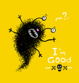 funny strange scribble monster vector image