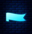 glowing neon banner ribbon icon isolated on brick vector image vector image