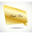 Golden Speech Bubble vector image