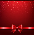 golden star isolated red bow background vector image