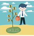 grow skills vector image vector image