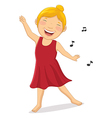 Happy Girl Dancing vector image