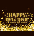 happy new year greeting card hand drawn lettering vector image vector image