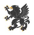 heraldic griffin7 vector image vector image