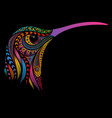hummingbird from patterns vector image vector image