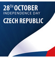 independence day of czech republic flag and vector image vector image