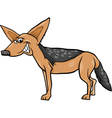 jackal animal cartoon vector image vector image