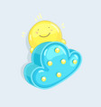 kids sun and cloud character vector image