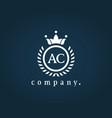 letter ac a c luxury royal monogram logo design