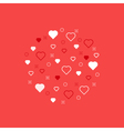 Love theme pattern with hearts vector image vector image