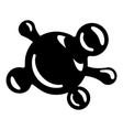 molecule biology icon simple black style vector image vector image