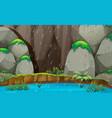 nature landscape raining scene vector image vector image