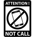 No phone telephone prohibited symbol vector image vector image