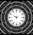 old watch black background vector image vector image