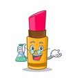 professor lipstick character cartoon style vector image vector image
