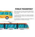 public transport poster vector image vector image