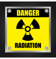 Radioactive hazard sign vector image