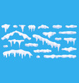 realistic 3d snow caps collection ice caps vector image vector image