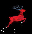 red deer of triangle shapes vector image