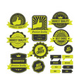 retro badges collection with green style vector image