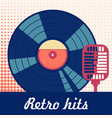 Retro hits poster vector image