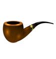 retro wooden smoking pipe vector image