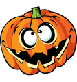 Scary halloween pumpkin cartoon vector image