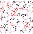 seamless pattern of love hearts vector image vector image