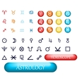 set of zodiac signs and planets vector image vector image