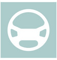 steering wheel the white color icon vector image vector image
