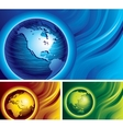 Three globes vector image vector image