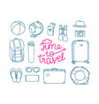 time to travel concept travel objects linear vector image