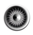 turbine engine jet for airplane with fan bladesin vector image vector image