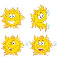 Weather cartoons vector image vector image