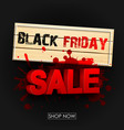 wooden sign black friday sale vector image vector image